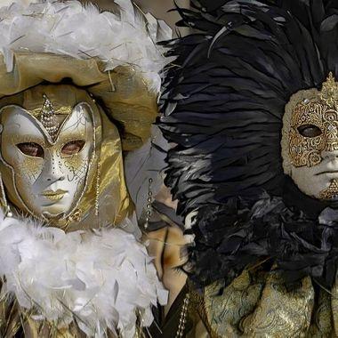 This picture is part of a promotional campaign to promote Carnevale de Venezia 2020.