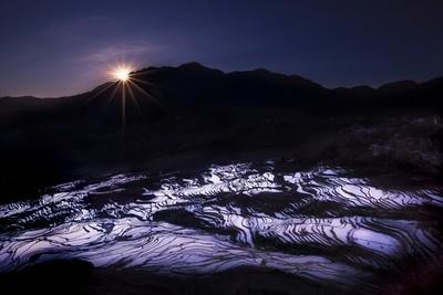 Winter Sunrise of Rice Terrace