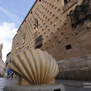Edificio,monumento nacional en la Ciudad de Salamanca (Spain)