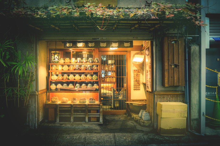 Traditional sweet shop in Tokyo