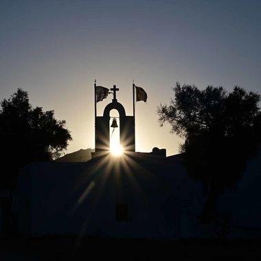 Sunbeam chapel mountain Greece