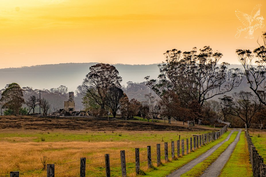 Captured on sunset during the bushfires, with smoke still in the air. Once, nestled amongst the t...