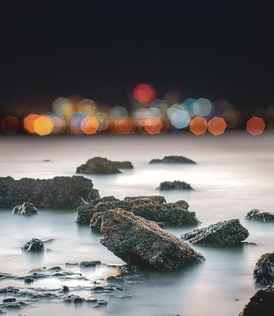 City lights in Abstract