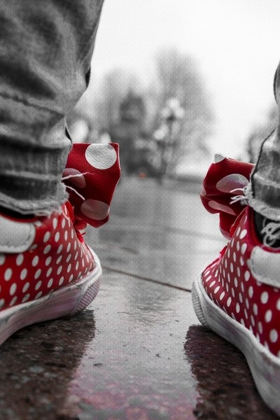 minnie red shoes
