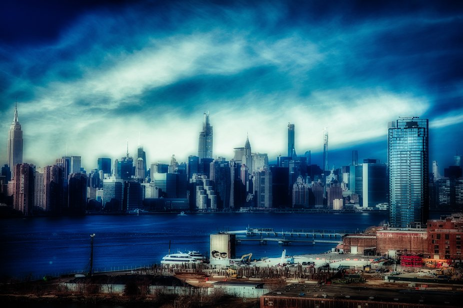 Picture taken in New-York, USA.  Various softwares used to get this end result. Colors, lights an...