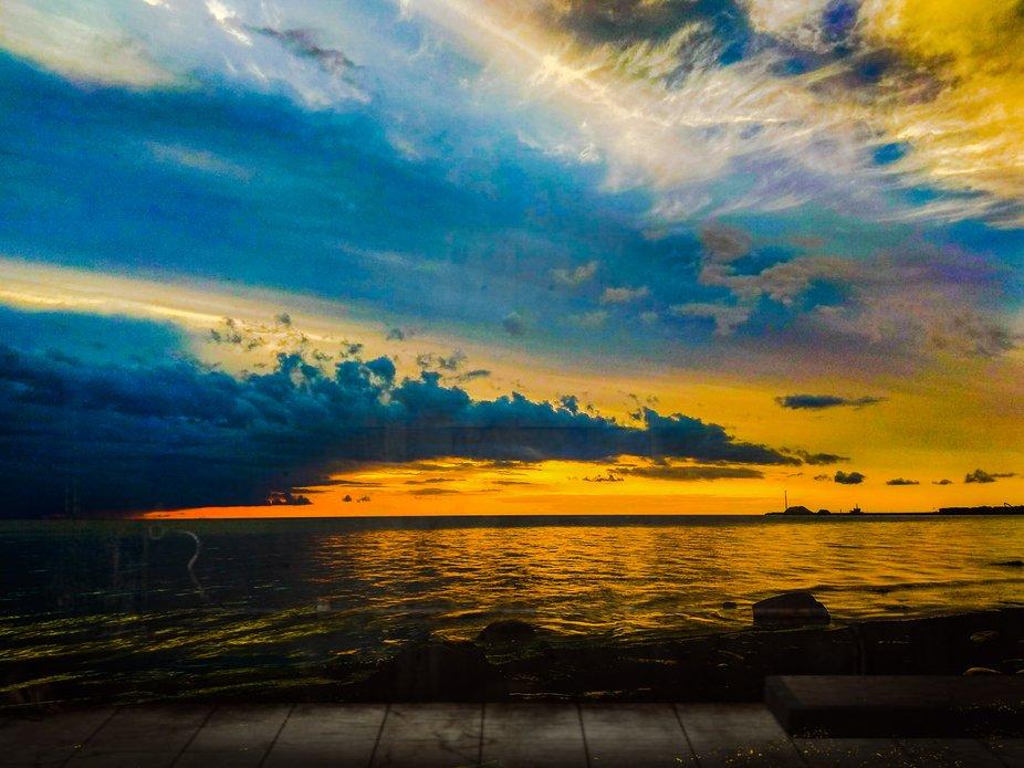 Sunset at Saulkrasti beach