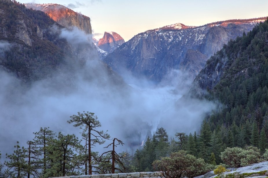 I decided Tunnel View was overrated, so I took a lot of shots from this vantage point. I like the...