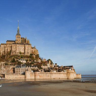 Le Mont Saint-Michel in Normandy / France