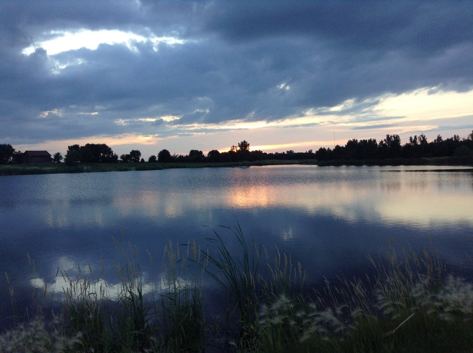 I went for a walk past our lake and saw this and decided to snap it.