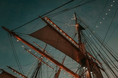 Sunset in a Historical Ship at San Diego
