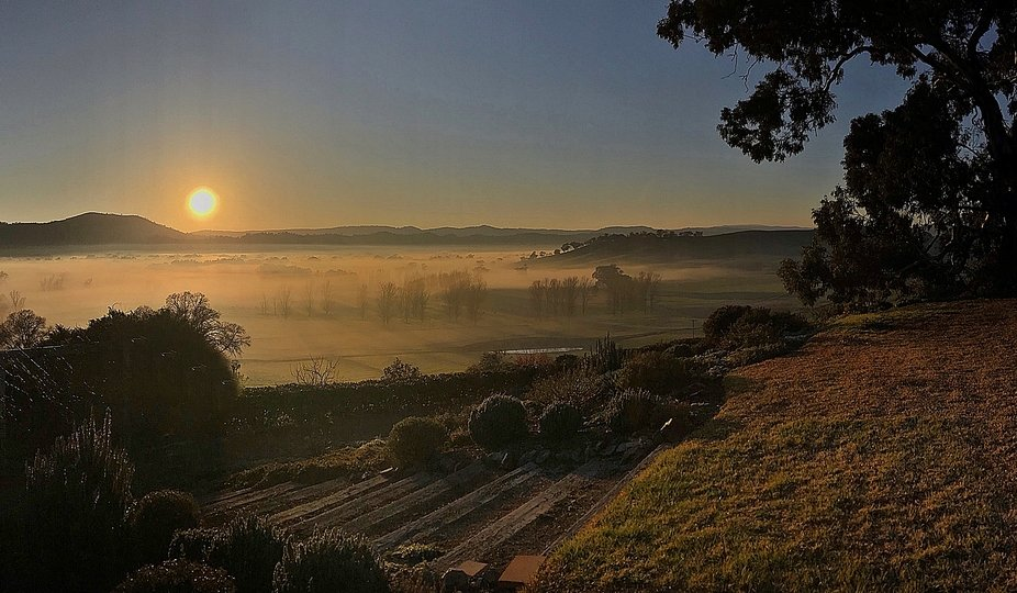 Captured this scene whilst staying with a friend in Gocup...the little bit of fog just added anot...