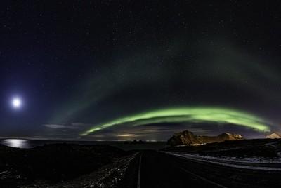 Auror over the West part of Vestmannaeyjar II.