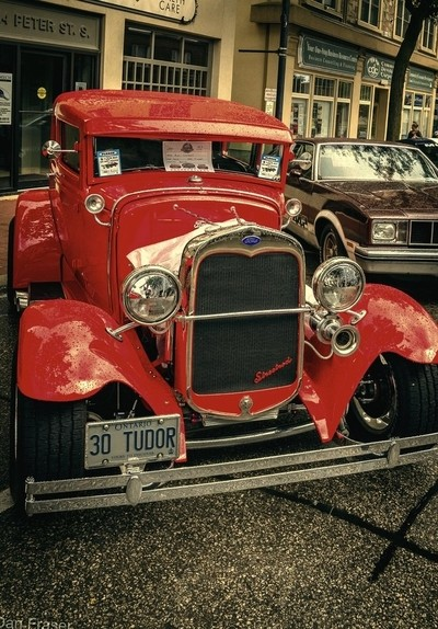 Red Antique Automobile