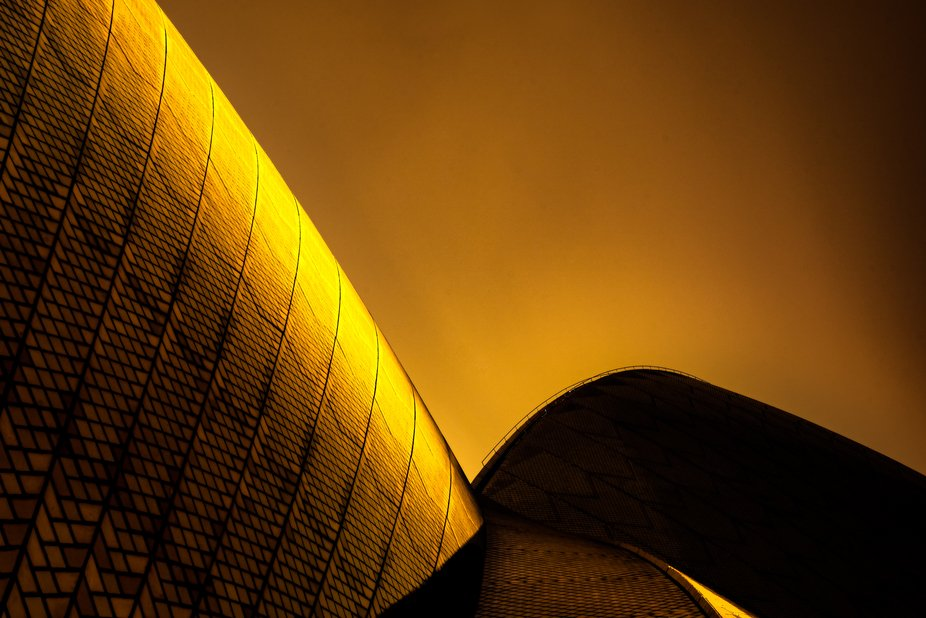 The Sydney Opera House shrouded in the smoke dust from the Australian Bush fires that have ravage...