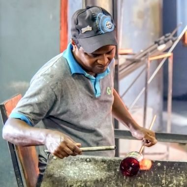 At Work - Glassblowing