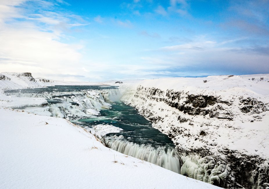 Gullfoss (translated to 'Golden Falls') is one of Iceland's most iconic and beloved waterfa...