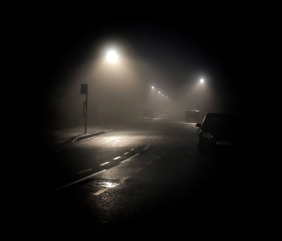 Misty morning commute