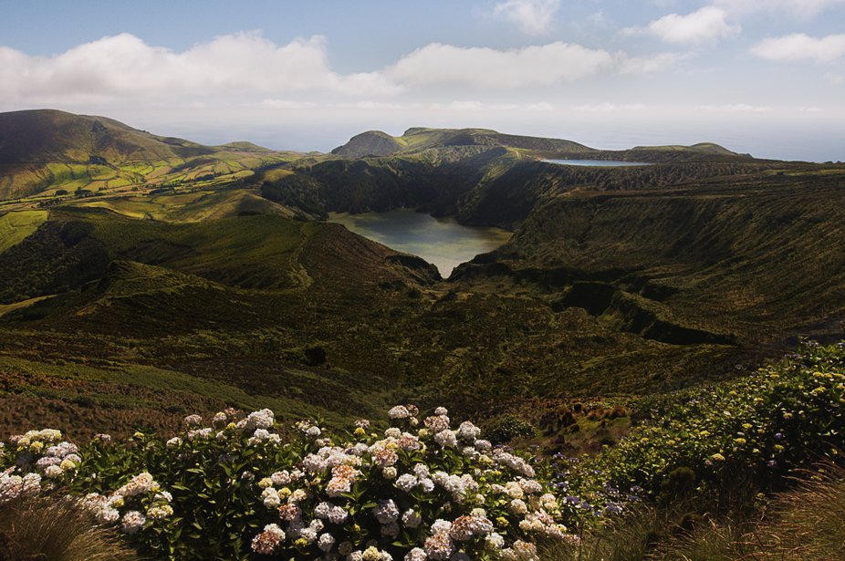 Flores Island  in the Azores Arquipelago.  The Azores islands were discovered in 1427 by Portugue...
