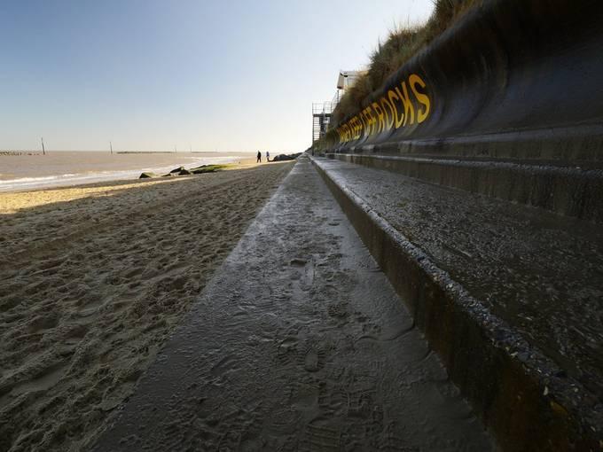 Sea defences at Palling, Norfolk.
