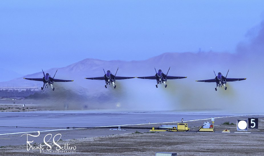 """""""Line Abreast Take Off"""" The Blue Angels take of """"Line Abreast&quot..."""