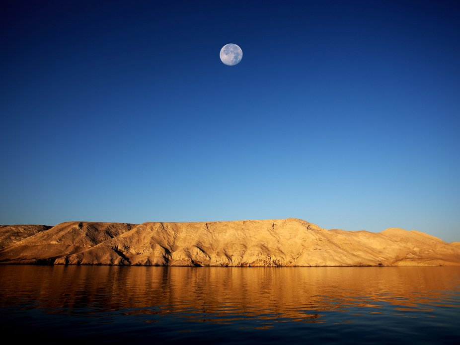 The Moonlike Landscape of island Pag in Croatia.