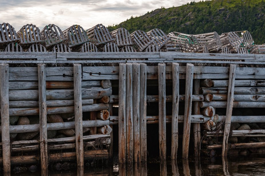 Waiting Lobster traps