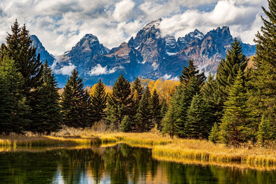 Grand Teton NP in Jackson Wy. is a Photographers dream. Fall is my favorite time of year due to t...