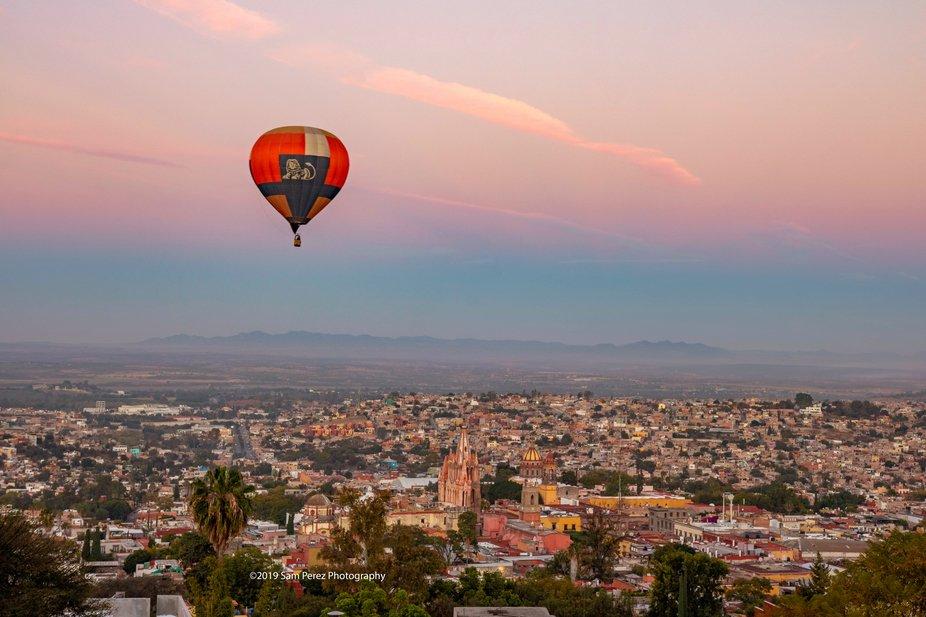 balloon over San Miguel de Allende