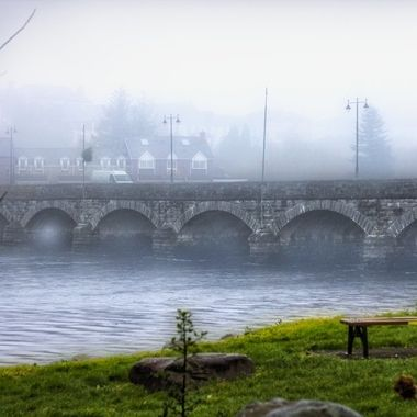 scenic view of laune bridge in killorglin