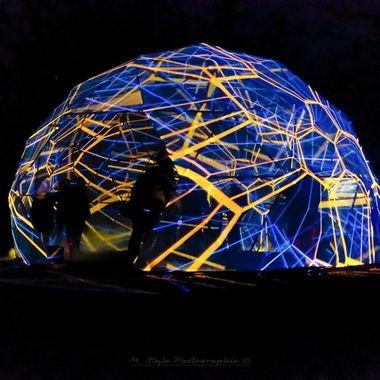 Light installation: Platonic Dome LightArtist: artificialOwl