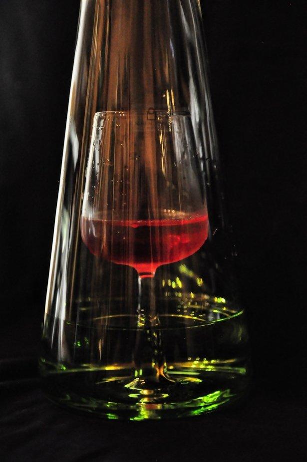 Das Glas in der Flasche