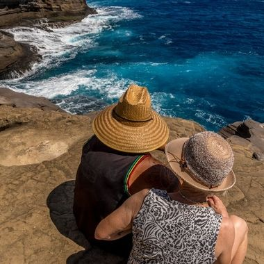 Soaking in the beauty of the cliffs on the eastside of Oahu.
