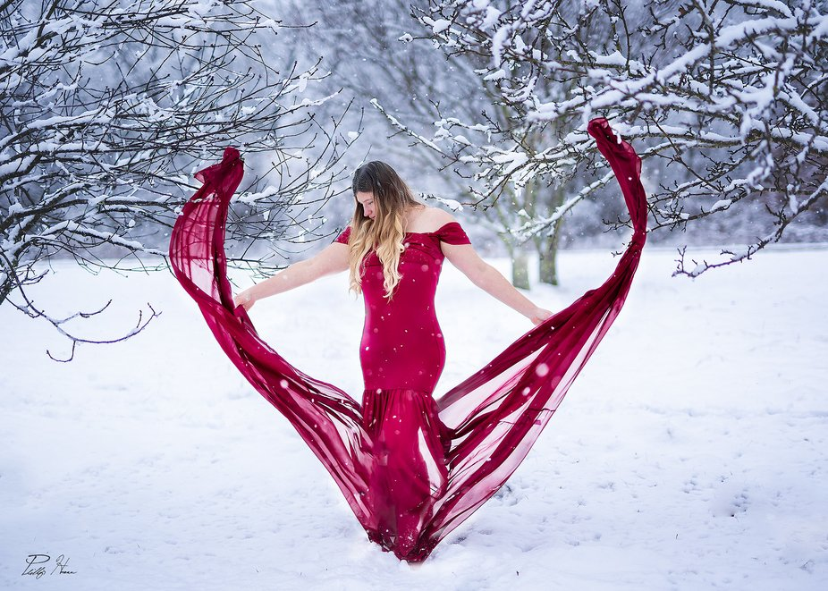 A recent image I captured of my beautiful wife in the snow!