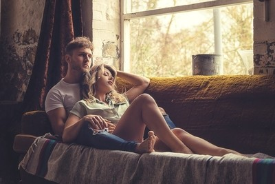 Relaxed couple