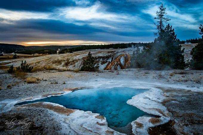 Blue Hour in Yellowstone