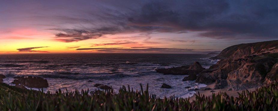 """Last light"" - sunset at Bodega Bay, CA."