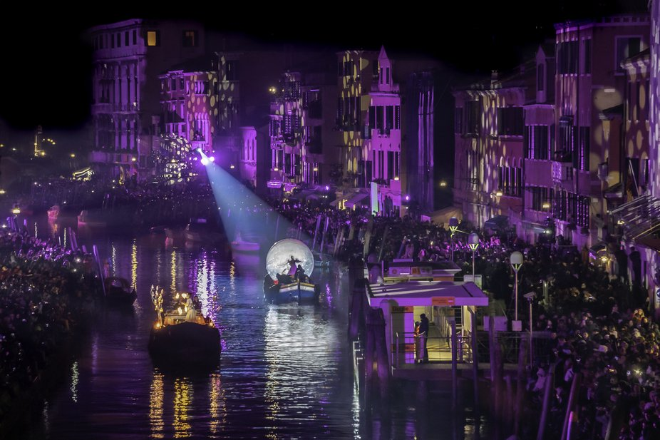 This photo was taken during the opening ceremonies of Carnevale 2020 in Venice. I was about 400 y...