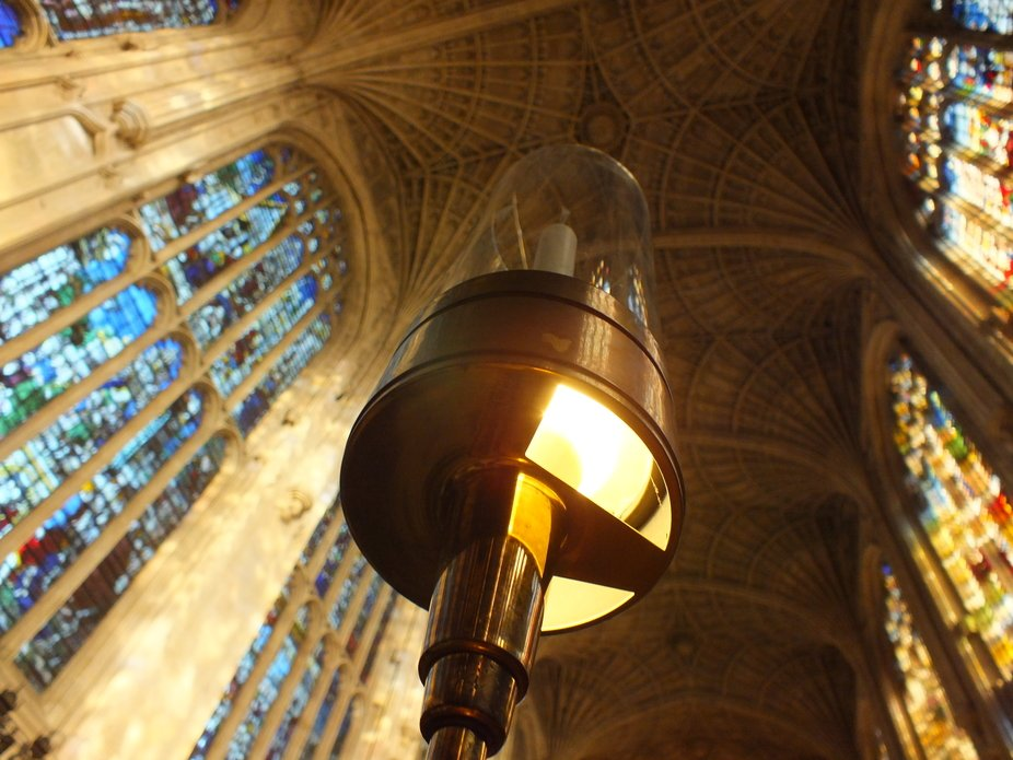 The photo was taken in Kings College in Cambridge. This place is very beautiful on the inside and...