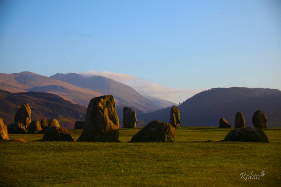 Taken at an ancient stone circle near Keswick in the UK Lake District National Park