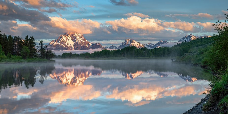 Sunrise on the first day of Summer at Oxbow Bend