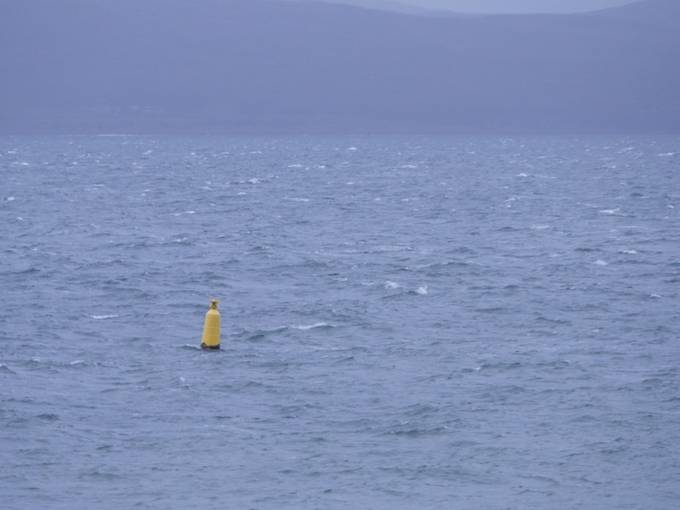 Markers on the cold Kilbrenan Sound