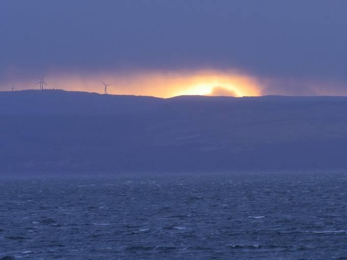 Kintyre Sunset seen ftom Arran.