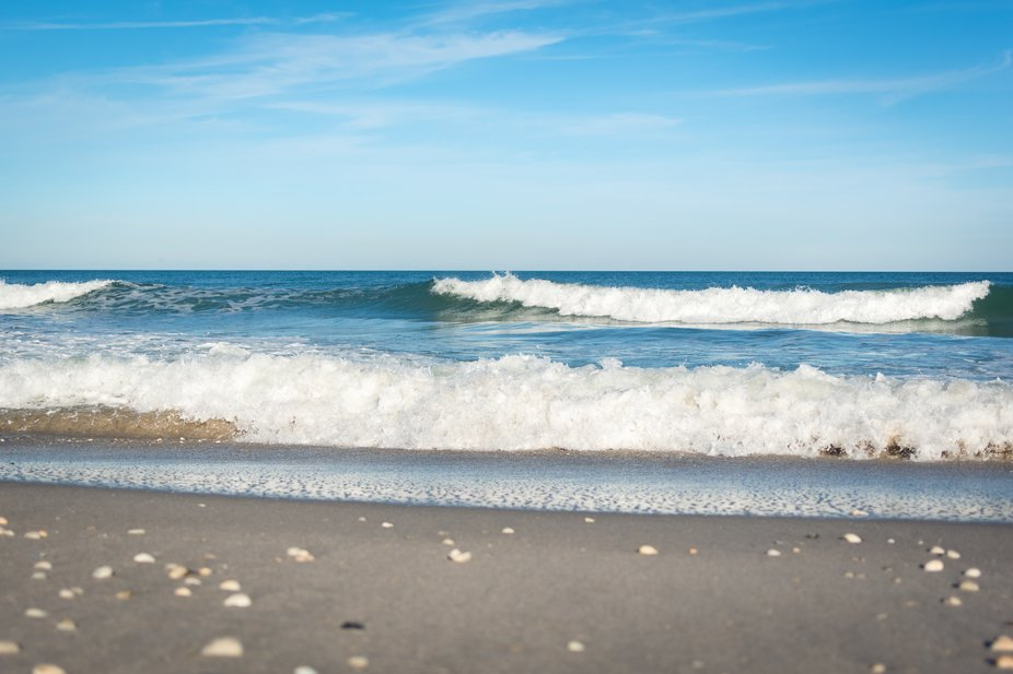 The air was crisp in November and the sound of the ocean waves soothing in the late afternoon on ...