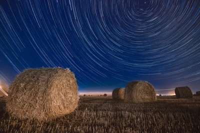 Haystacks and star trails