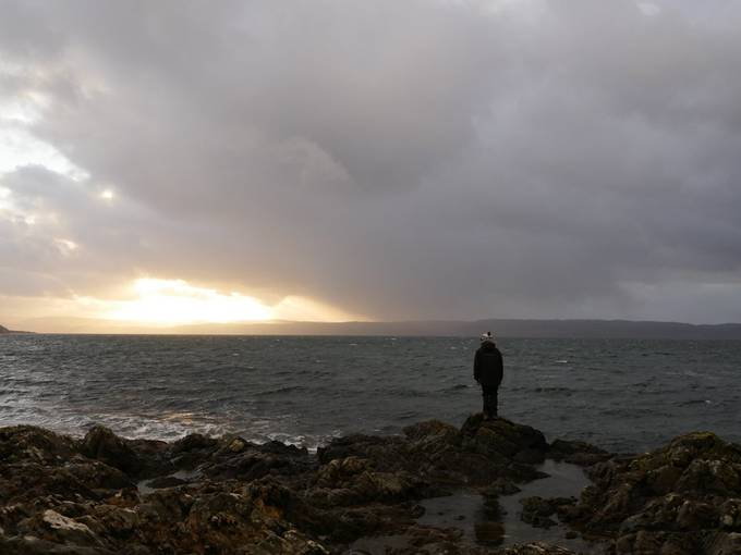 Looking out on a stormy Kilbrannan Sound