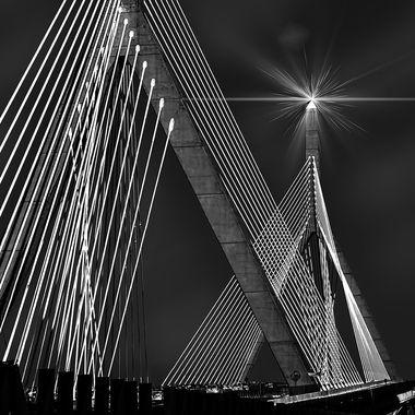 Concrete and cable bridge