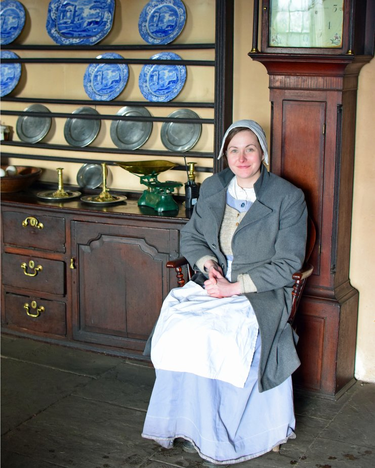 Member of staff at Pockerly Hall part of Beamish museum GB
