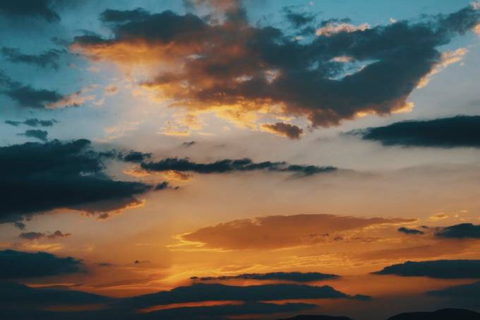 scenic view of sunset and  sky