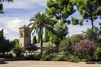 Palace of the Alhambra and the gardens of the Generalife