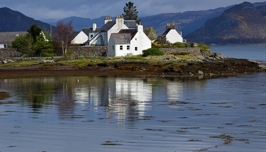 Village of Plockton near Skye in the Highlands.